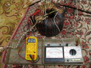 Испытание сварочного трансформатора в нормальном режиме работы.