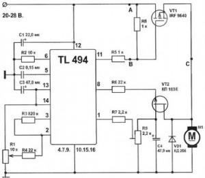 Регулятор подачи сварочной проволоки на TL494