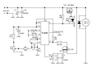 Регулятор подачи проволоки на TL494
