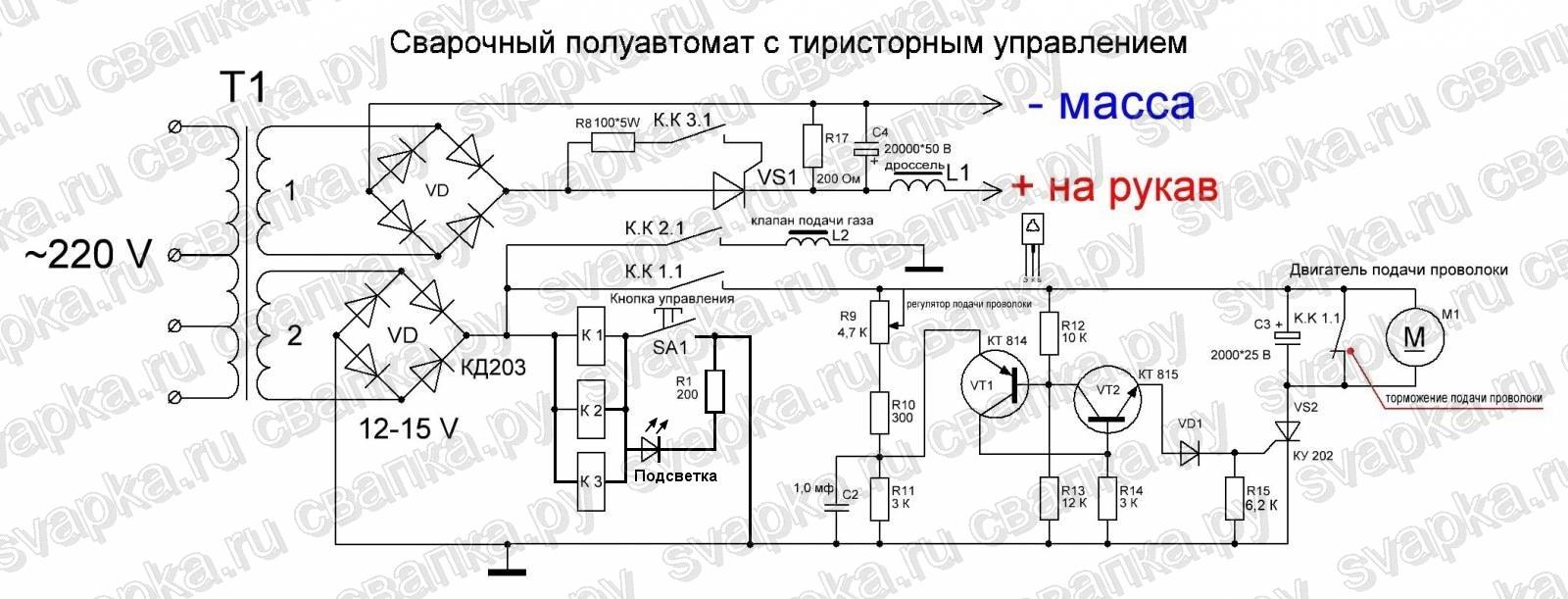 Тиристорный регулятор управления двигателем постоянного тока схема.
