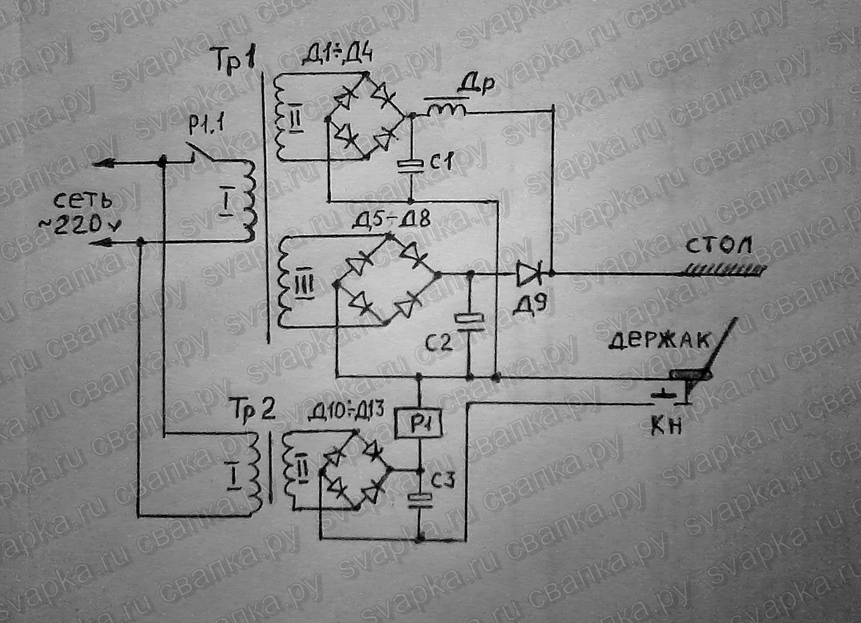 схема простого автомобильного инвертора