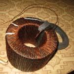 Первый ряд обмотки намотан | Намотка сварочного трансформатора