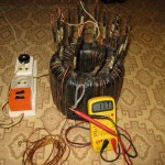 Замеряем минимальное напряжение для мотора | Намотка сварочного трансформатора