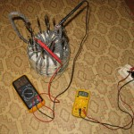 Замеряем максимальное напряжение вторички на 20 витке