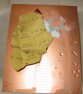 Зачистка печатной платы от окислов и жира
