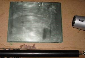 Прикатка пленки фоторезиста после нагрева