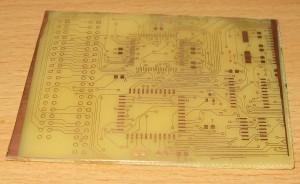 Печатная плата с дорожками 0,2 мм. вид сверху