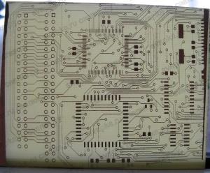 Печатная плата с дорожками 0,2 мм. на просвет
