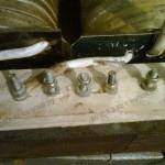 Крепление отводов первичной обмотки сварочного аппарата