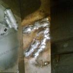 Пробная сварка рессоры электрод 4 мм, минимальный ток