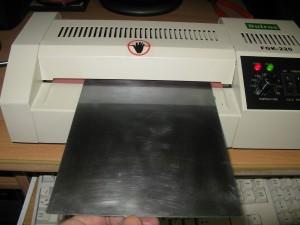 Прикатка фоторезиста ламинатором