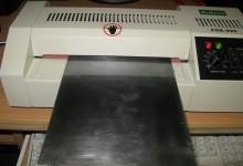 Приклейка пленочного фоторезиста с помощью ламинатора