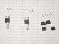 7805, IRF1405, NE555