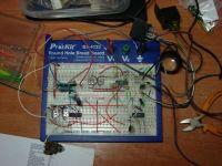 Испытание схемы сварочного полуавтомата на макетной плате