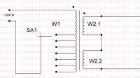 Схема подсоединения обмоток трансформатора